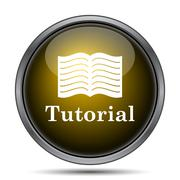 Tutorial icon. Internet button on white background.. Stock Illustration