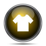 T-short icon. Internet button on white background.. - stock illustration