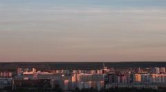 Dawn over the city, Yakutsk Sakha Yakutiya Russia Stock Footage