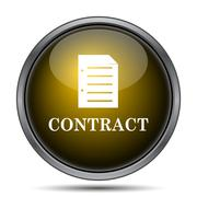 Contract icon. Internet button on white background.. - stock illustration