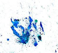 Paint watercolour splatter blue. Watercolors spot blotch isolated Stock Illustration