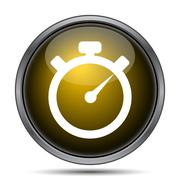 Timer icon. Internet button on white background.. Stock Illustration