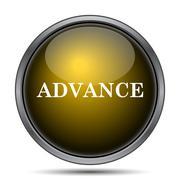 Advance icon. Internet button on white background.. Stock Illustration