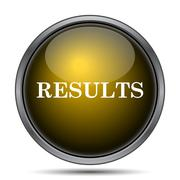 Results icon. Internet button on white background.. - stock illustration