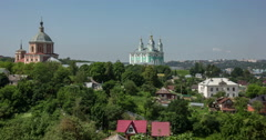 Russia, Smolensk, Cathedral of the Assumption of the Blessed Virgin Mary. Stock Footage
