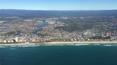 Aerial view of Gold Coast Australia  Stock Footage