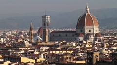 Pano of Florence view from Michelangelo Square, Tuscany Italy Stock Footage