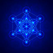 Metatrons Cube - Flower of life. Stock Illustration