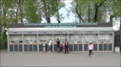 Blurred cashbox to Peterhof Park Stock Footage