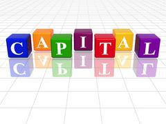 Colour capital Stock Illustration