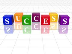 Colour success Stock Illustration