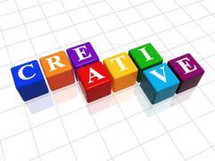 creative in colour - stock illustration