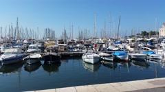 View of the old port of Cannes, France Stock Footage