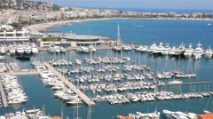 The old port of Cannes, south of France Stock Footage