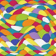 Abstract Wave Seamless Pattern Background. Vector Illustration Stock Illustration