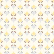abstract retro geometric seamless pattern background, flower theme - stock illustration