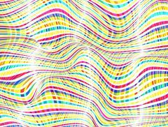 Abstract Wave Zebra Pattern Background. Vector Illustration Stock Illustration