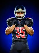 American football player man isolated Stock Photos