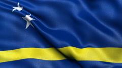 Curacao flag seamless loop Stock Footage