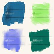 Abstract Background with watercolor element. - stock illustration