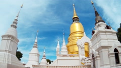 Wat Suan Dok Temple Of Chiang Mai, Thailand Stock Footage