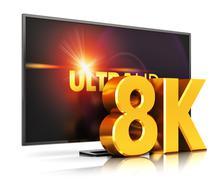 8K UltraHD TV technology Stock Illustration