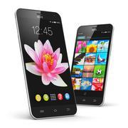Modern touchscreen smartphones - stock illustration