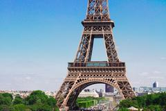 Eiffel Tower and Paris cityscape - stock photo