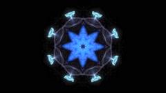 Blue Kaleidoscope Explosion Vj Loop Stock Footage