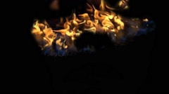 A Face On Flames Vj Loop - stock footage