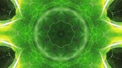 Green Kaleidoscope Explosion Vj Loop Stock Footage