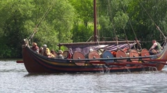The annual festival in Kolomenskoye. Reconstruction of Ancient Rus. Historical Stock Footage