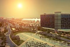 Beautifull view on Abu Dhabi. Stock Photos