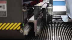 High-end machine for automatic punching metal sheet Stock Footage