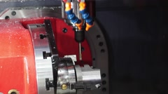 Professional CNC turning center Stock Footage