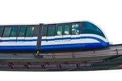 Electric monorail train modern public transport - stock photo
