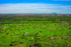 Aerial view of Siem Reap city and green fields, Cambodia Kuvituskuvat
