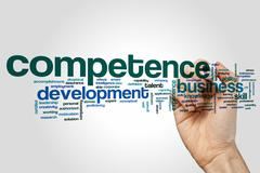 Competence word cloud concept Stock Illustration