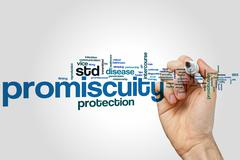 Promiscuity word cloud Stock Illustration