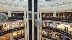 Interior of AFIMALL CITY modern shopping center Stock Footage