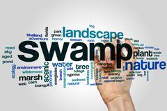 Swamp word cloud Stock Illustration