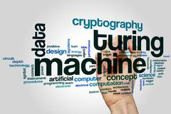 Turing machine word cloud Stock Illustration