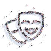 people mask masquerade 3d - stock illustration