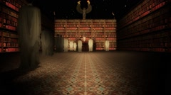 The Interior of the Library of Alexandria in the Lecture Hall Slow Zoom In - stock footage