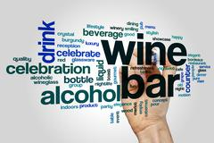 Wine bar word cloud concept Stock Illustration