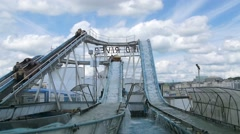 A water rollercoaster - stock footage