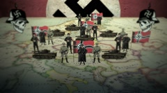 Map of Nazi Germany in a Satirical Style Stock Footage