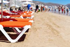 San Antonio Beach in Cullera, Spain Stock Photos