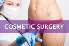 Cosmetic surgery written on a virtual screen. Internet technologies in medicine Kuvituskuvat