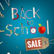 Back to School sale background. EPS 10 Piirros